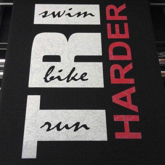 TRI HARDER Triathlete Tshirt