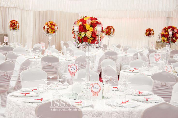 Decoratiuni nunta sfesnice cristal IssaEvents 2017