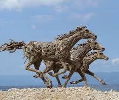 drijfhout kunst paarden - Google zoeken