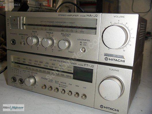 Hitachi HA-J2 amplifier ve FT-J2 tuner Vintage mini Hi-Fi set - Antika Radyo ve Çeşitli Antika Makineler sahibinden.com'da