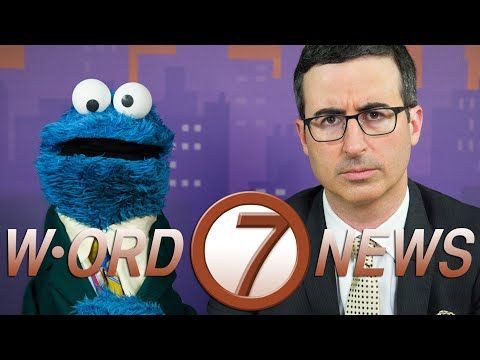 W-ORD Channel 7 News With John Oliver & Cookie Monster | Funny Way to Present News