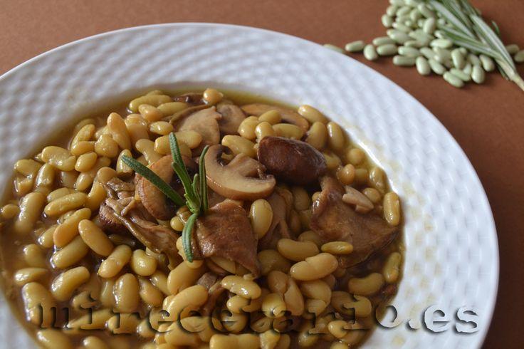 Alubias Verdinas con Boletus: mirecetario.es