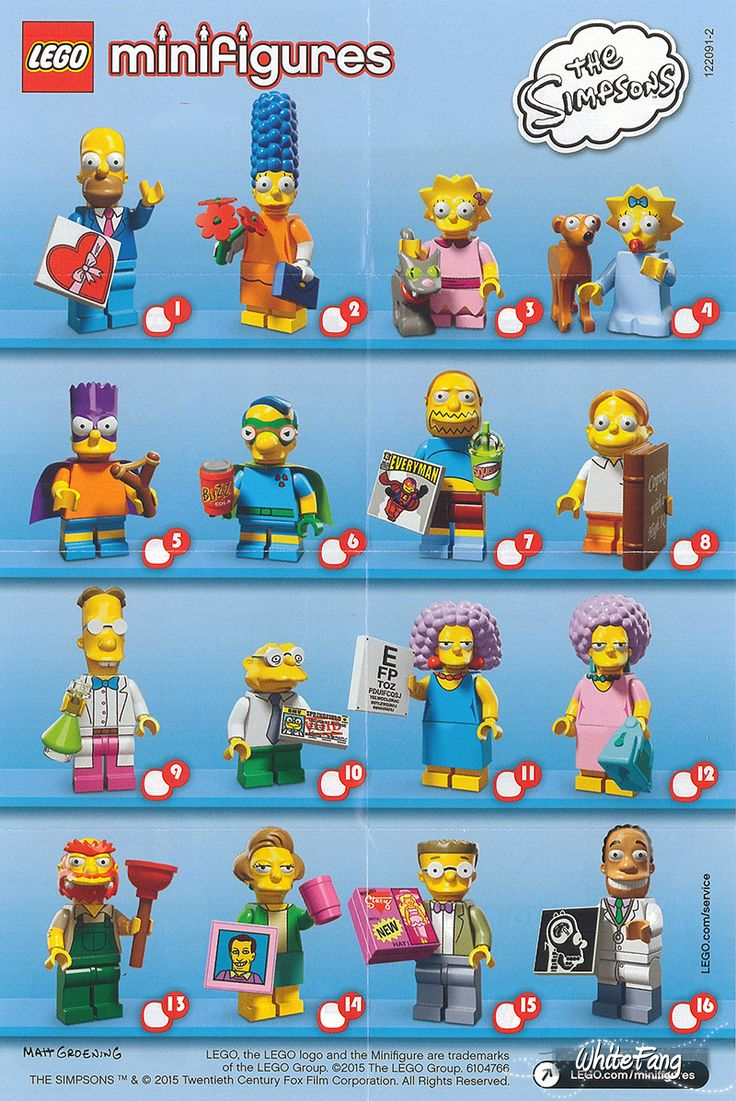 Lego Mini Figures - The Simpsons - Series 2 - 2015