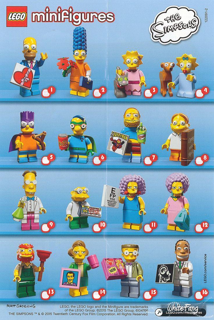Lego Mini Figures - The Simpsons - Series 2 - 2015