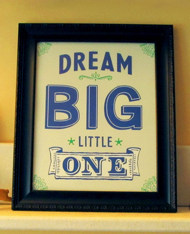 Dream Big Little One 8x10 Art Print. Available in many colors and also for twins!
