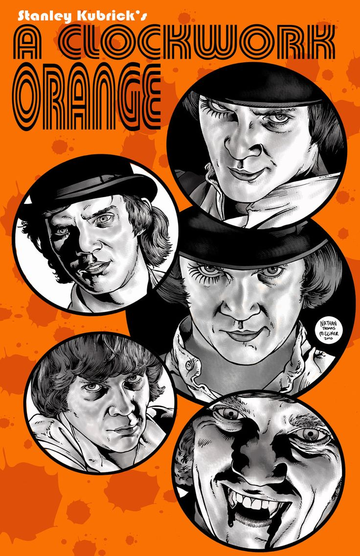 This is a poster i did for malcolm mcdowell at a convention featuring many pics from clockwork orange alex delarge