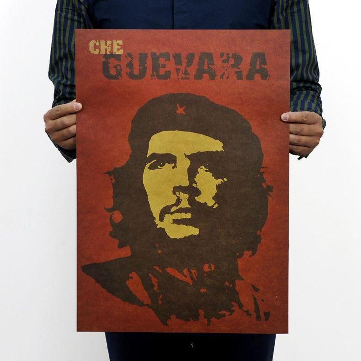 Че Гевара портрет ретро kraft бумажные плакаты стены стикеры room decor 0224. главная наклейка мировой моды символ искусства настенной росписи 5.0