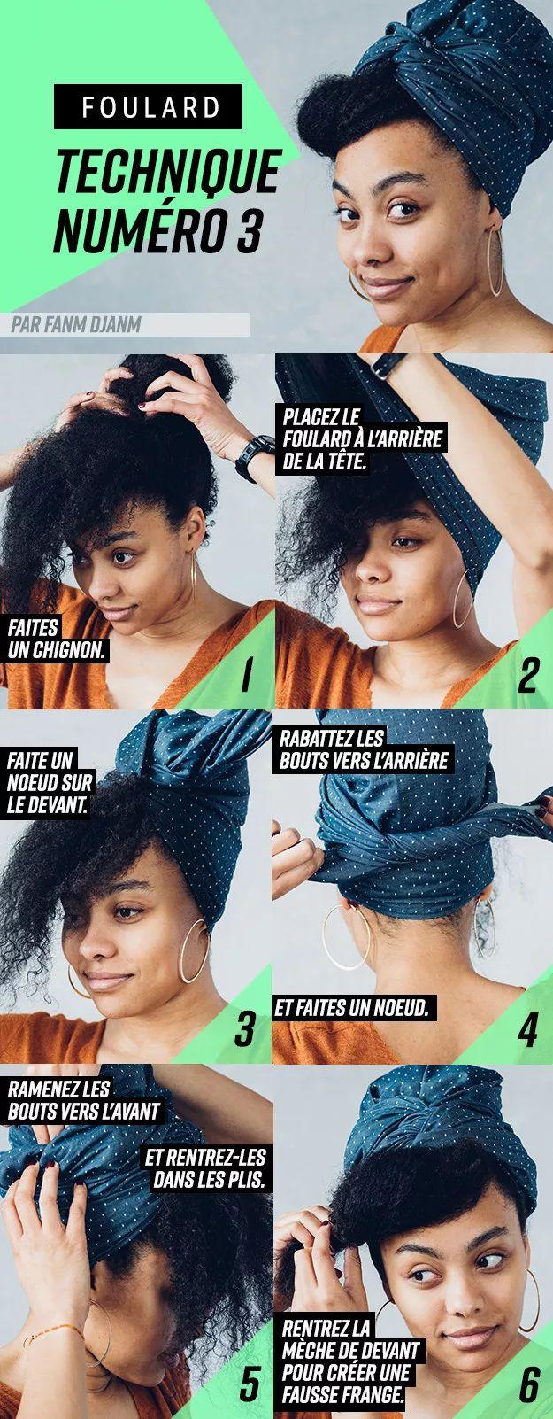 16 manières d'utiliser un foulard si vous avez les cheveux afro ou des tresses