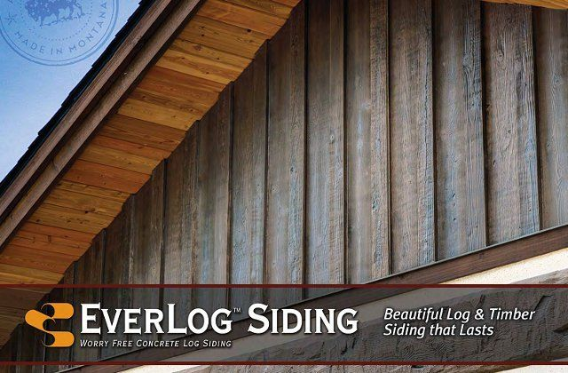 Everlog Concrete Log Siding By In 2020 Wood Siding Exterior Log Siding Log Cabin Siding
