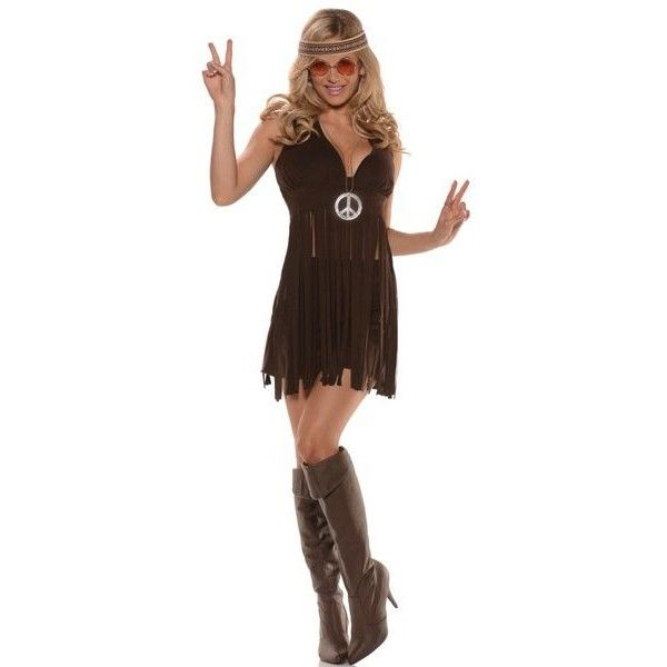 Sunshine Hippie Adult Costume (285 SEK) ❤ liked on Polyvore featuring costumes, tops & t-shirts, halloween hippie costumes, hippy costume, adult costume, hippie costume and adult halloween costumes