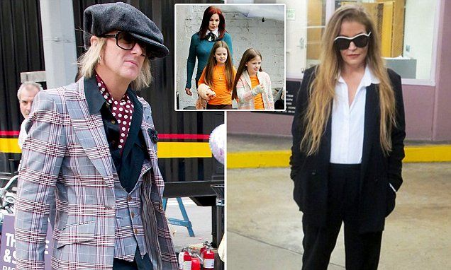 Lisa Marie Presley and Michael Lockwood in LA court today