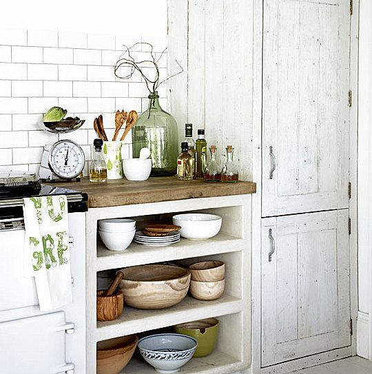 This is fun and rustic, looks like a peak at an Aga.