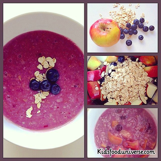Apple, blueberry & oatmeal puree [6m+] yummy doing purple those days, delicious breakfast bursting with color and flavor and most importantly nutrients!! Ingredients: – 1 Sweet apple – 1 cup of blueberries – 1 cup of oatmeal All organic if possible. Method: 1. Boil everything together then blend it with its own water. That's it! …