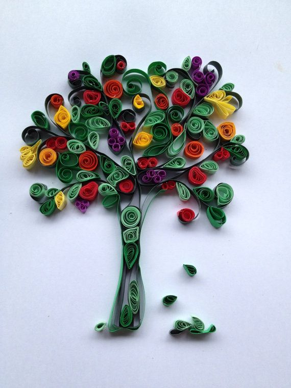 152 best Quilling Trees images on Pinterest