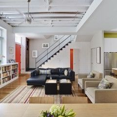 contemporary living room by Rasmussen / Su Architects