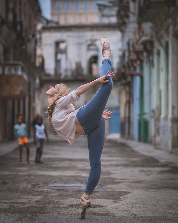 Ballet Dancers Practicing On The Streets Of Cuba. By Omar Robles