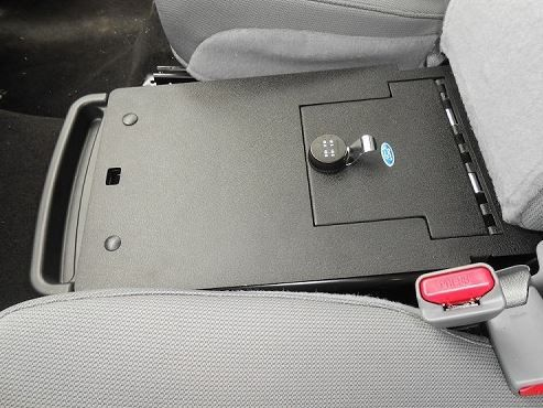 Console Vault Ford F150 Under The Middle Seat Console 2011-2014 - 1049 #Gunsafes.com