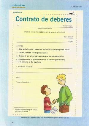 Contrato de deberes. Estrategias para la inclusión del alumnado con trastornos que inciden en el aprendizaje
