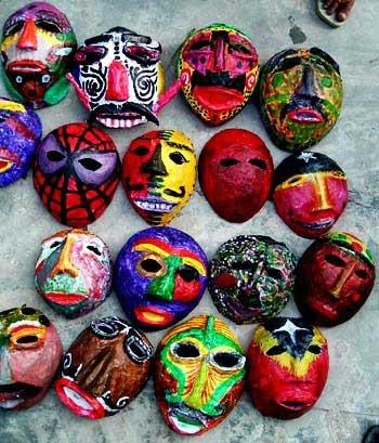 Masks from the Arte Moris art school in Timor Leste