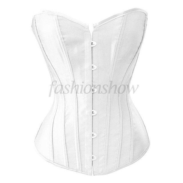 Sexy Black,White Satin Corset lace Underbust Bustiers Women Corsets Sexy Lingerie Plus Size Corselets 2XL,3XL,4XL 50