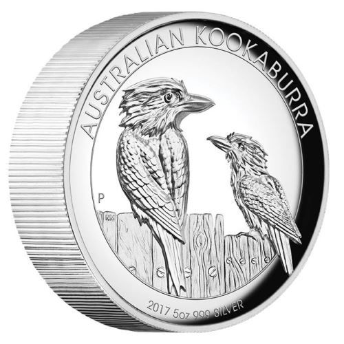 Australian Kookaburra 2017 5oz Silver Proof High Relief Coin | The Perth Mint