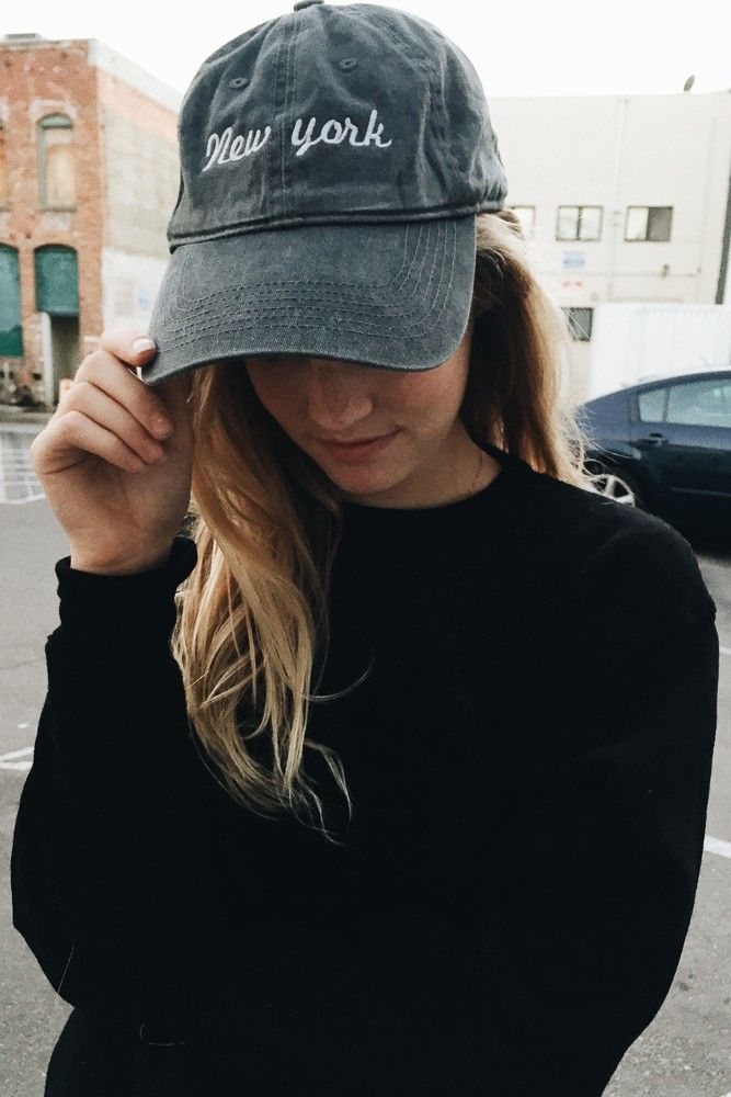 Brandy ♥ Melville | Katherine New York Embroidery Cap - Hats & Beanies - Accessories