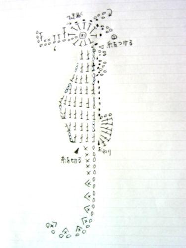 タツノオトシゴの編み図