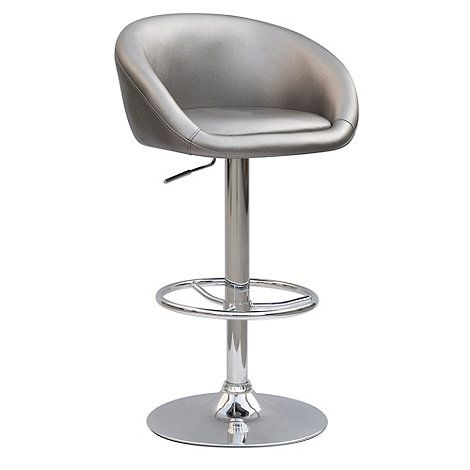 Debenhams Silver 'Plaza' gas lift barstool- at Debenhams.com