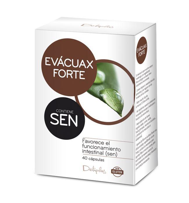 EVÁCUAX FORTE Complemento alimenticio a base de Sen, que favorece el funcionamiento intestinal. 40 cápsulas.