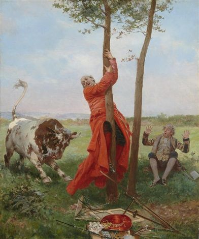 The papal bull by François Brunery (Pintor com uma veia cômica e realista)