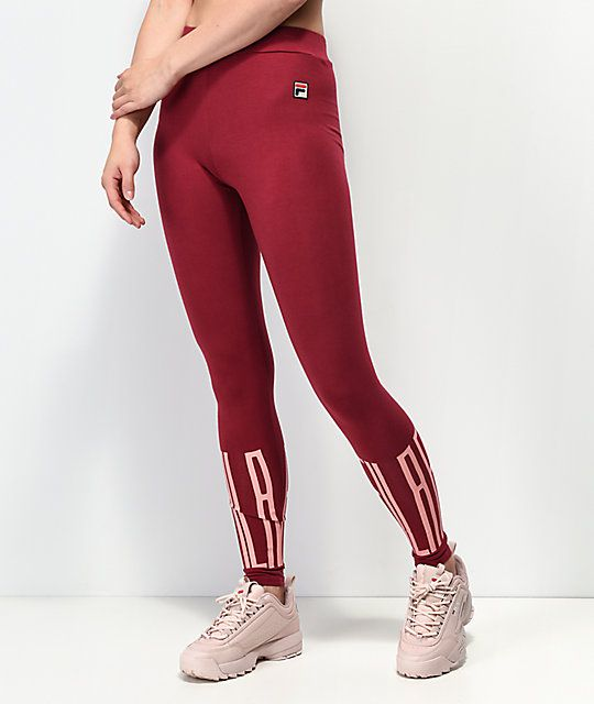 1677989bef3edc FILA Mariella Libetan Red & Pink Leggings in 2019 | Adidas outfit ...