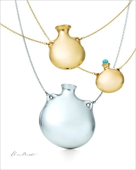 Elsa Peretti Bottle Pendants for Tiffany & Co