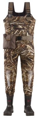 LaCrosse Swamp-Tuff Pro Insulated Boot-Foot Chest Waders for Men - Realtree Max-5 - 10 Stout