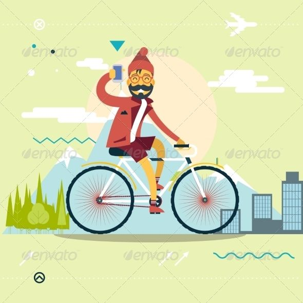 Travel Concept of Planning a Summer Vacation  #graphicriver