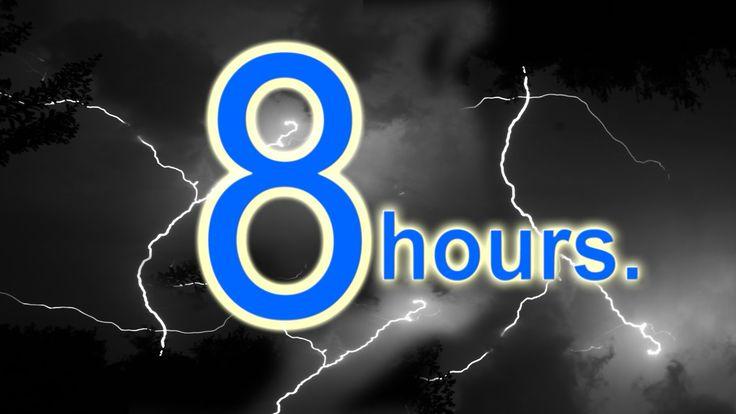 Thunderstorm Sound 8 hours - Rain and thunder storm relaxation sleep sou...