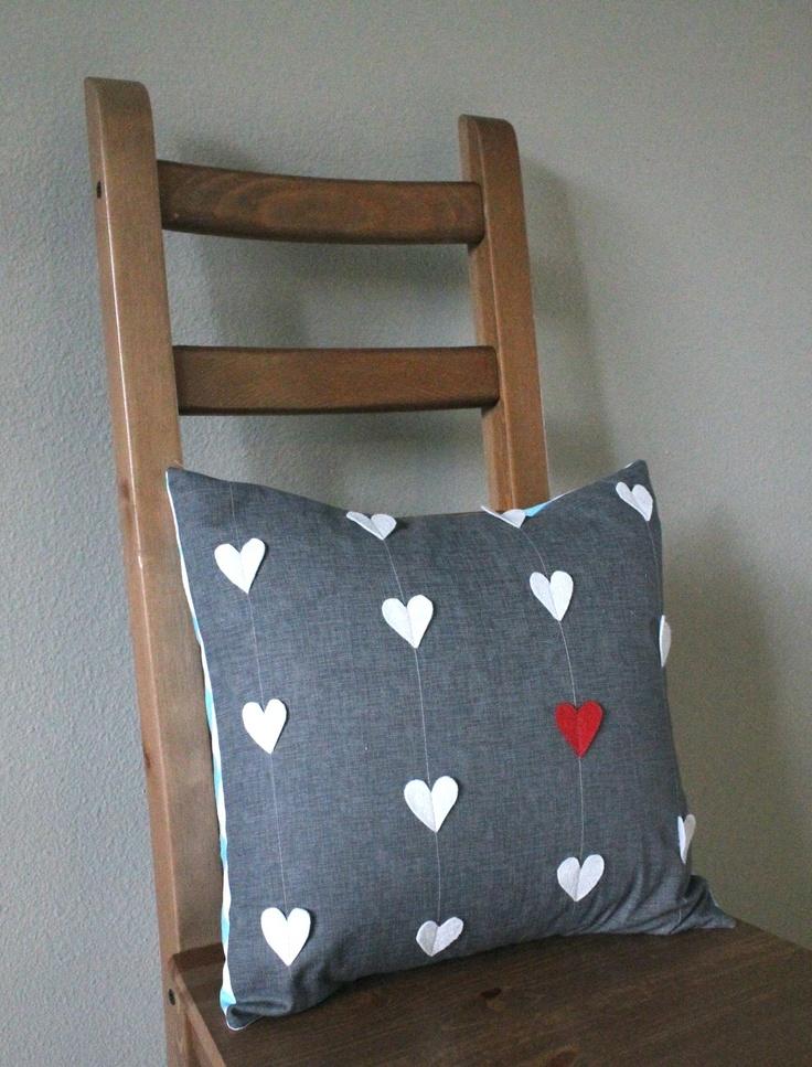 DIY Heart Valentines Day Pillow Tutorial