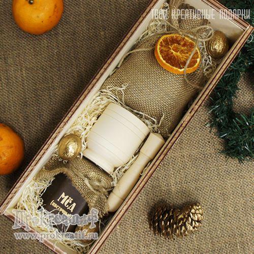 """Подарочный набор """"Медок и специи"""" Стильный подарочный набор с мёдом и специями в элегантном деревянном футляре с гравировкой."""