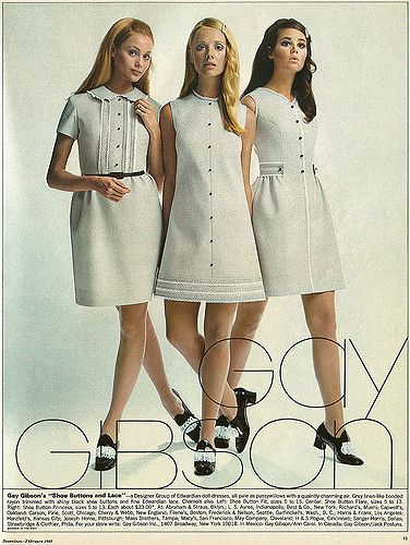 60's Style colletction by Gay Gibson 1969