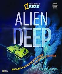In this National Geographic Kids book, Bradley Hague reveals the mysteries on the bottom of the ocean. If you thought tube worms and bacteria were the only colonizers of vents, you might be surprised to learn about predators and scavengers like the octopus and sea spider. This text is geared toward upper elementary though younger students would enjoy a picture walk and asking questions about the strange and wonderful photos.