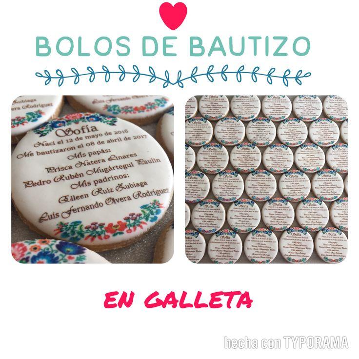 A tus invitados les van a encantar estos bolos de galleta y además no van a terminar en la basura!!  $20 c/u Galleta 7 cms diámetro   #galletasimpresas #bolos #bautizo #recuerditos #galletasdecoradas #recuerditos