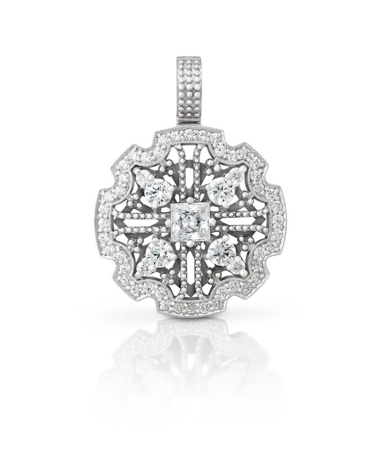 Detachable pendant - pure white