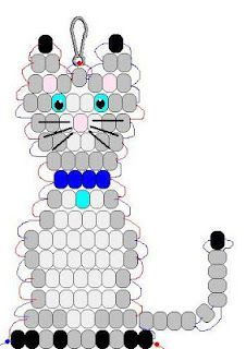 Cat pony bead pattern - Crafts 4 Camp