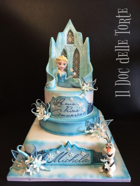 Frozen Communion Cake