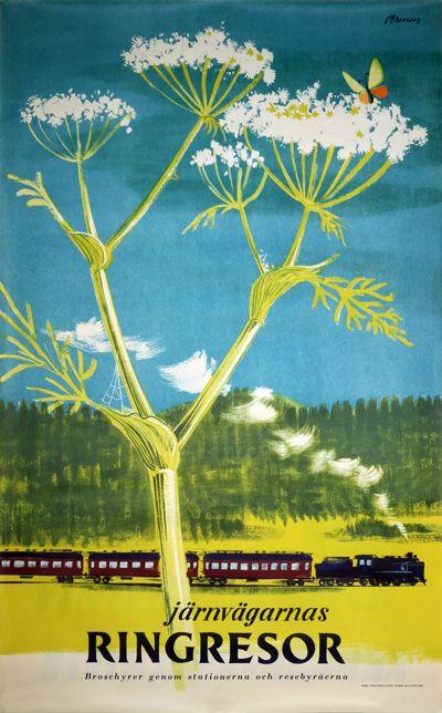 Orignal vintage poster: Finland - Ringresor for sale at posterteam.com by Bruun, Erik