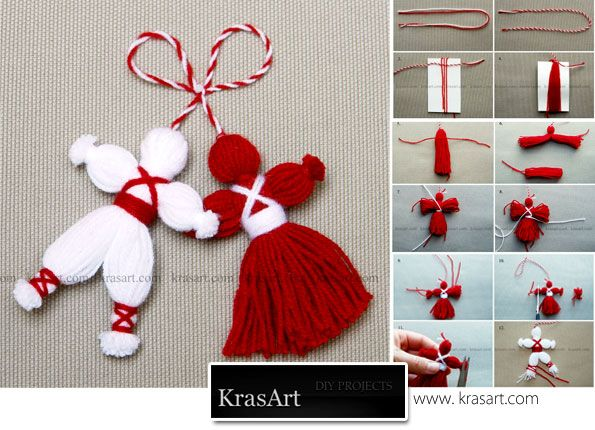 "Yarn Dolls. Pinner wrote, ""my grandma actually used these as tassels on my baby blanket she crocheted for me.  I loved them!"" So cute!"