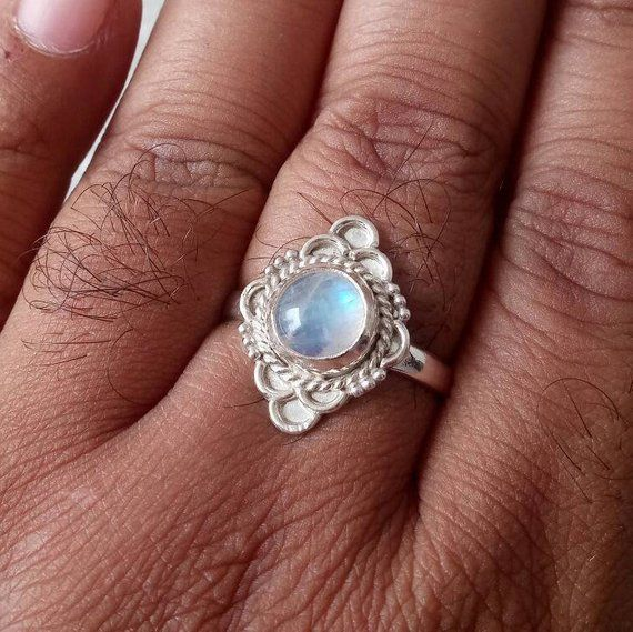 Labradorite Silver Ring 925 Solid Sterling Silver Jewelry size 3-14 US