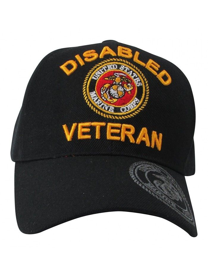 7db0f82614a5e US Marine Corps Disabled Veteran   USMC Insignia on Visor Baseball ...