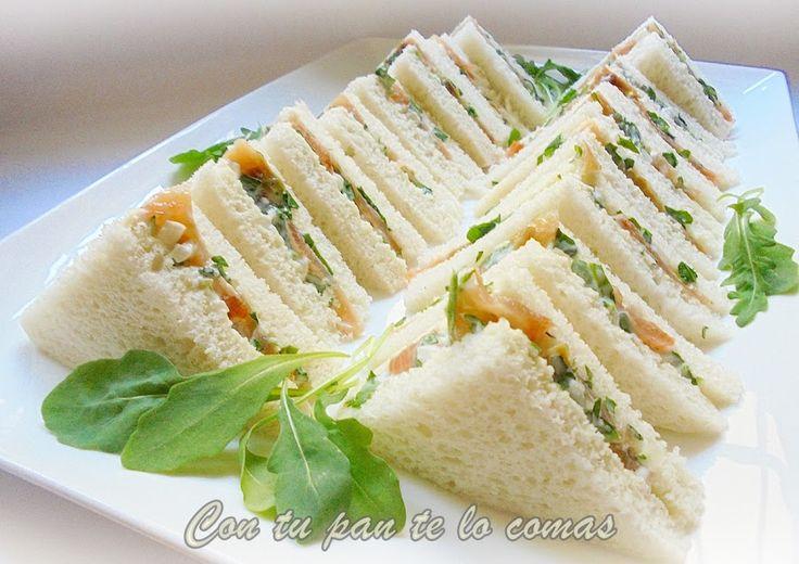 M s de 1000 ideas sobre s ndwich de salm n ahumado en for Canape de salmon ahumado