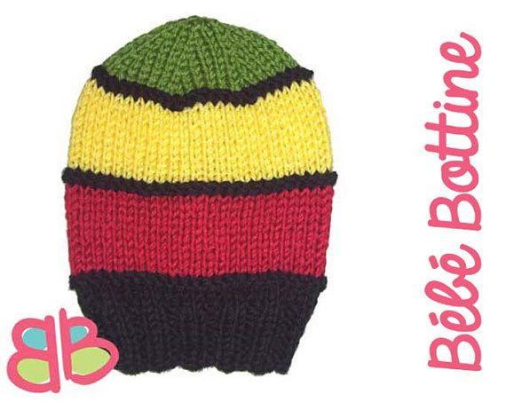 Longue tuque tricot e slouchy b b enfant adulte rastaman votre choix de grandeur tricot - Tricot a la main ...