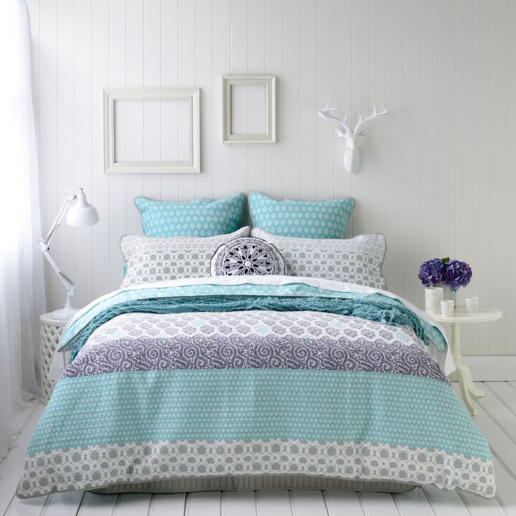 Mercer + Reid Quilt Cover Sets and Linen - Azure, online at Adairs ...